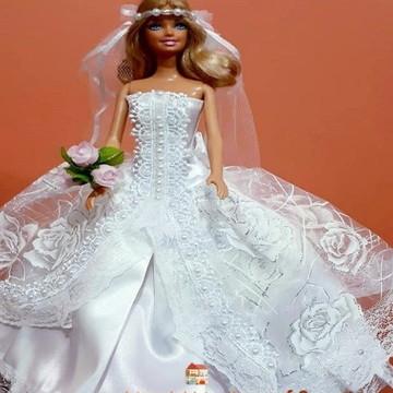 Roupinhas de boneca para Barbie - Noivas