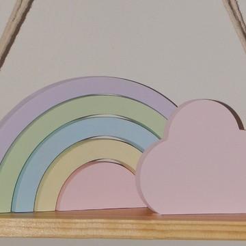 Kit Adornos Arco-iris + Nuvem + Coração + Estrela