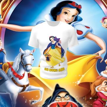 Camiseta Camisa Blusa Disney Branca de Neve