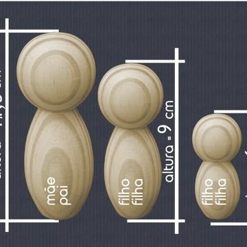 família de madeira para personalizar