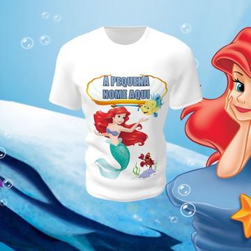 Camiseta Camisa Blusa Disney Pequena Sereia