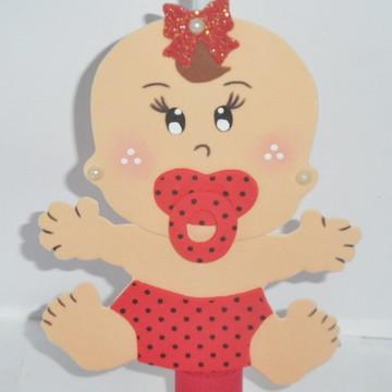 Decoração Chá de Bebê - Aplique Bebê em E.V.A