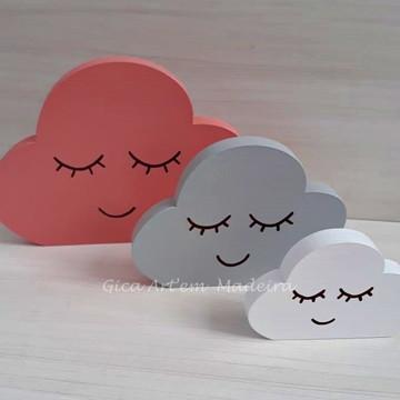 Trio de Nuvens Baby Mdf