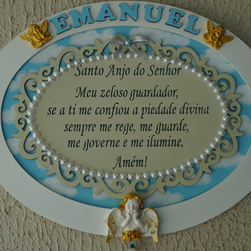Placa Maternidade Santo Anjo Menino