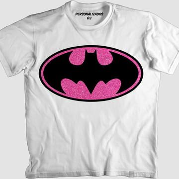 Camisa LOGO DO BATMAN PURPURINADO ROSA