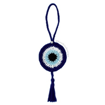 Olho Grego Azul Marinho (Crochê)