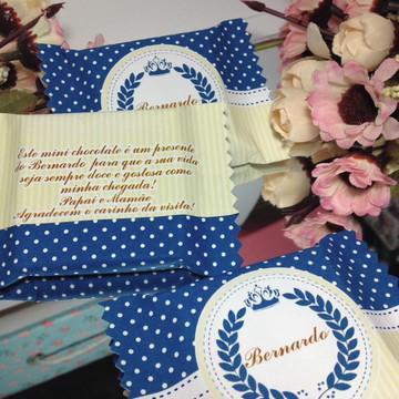 Lembrança Nascimento Mini chocolate brasão real
