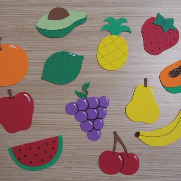 Apliques Frutas em EVA