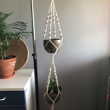 Suporte de plantas - Duplo | Hanger de Macramê