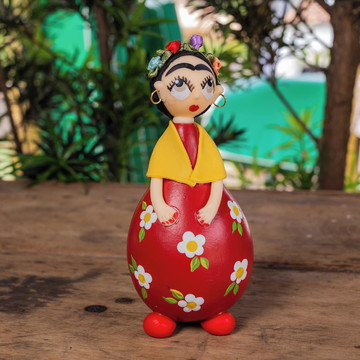 Boneca Frida Kahlo abaça