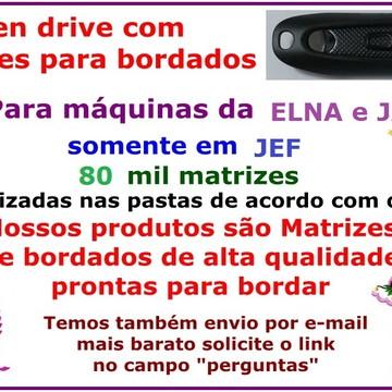 JEF 80 Mil Matrizes Pen drive + EMBIRD 2015