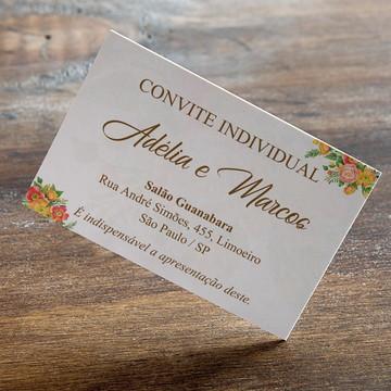 Convite individual para casamento laranja