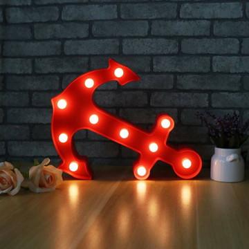 Luminária Led Âncora Vermelho