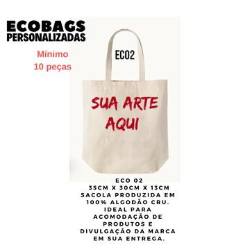 ECOBAGS DE ALGODÃO CRU ECO2