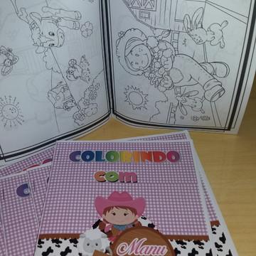 Livrinho de colorir fazendinha menina