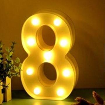 Luminária Led Número 8