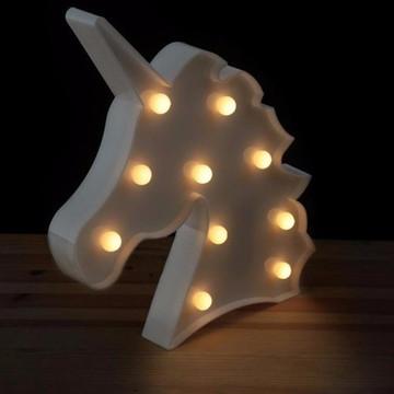 Luminária Led Unicórnio Branca