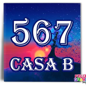 Azulejo Lote com número da casa Personalizado (20x20cm)