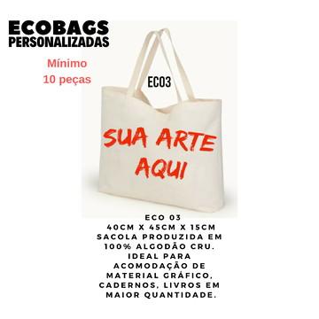 ECOBAGS DE ALGODÃO CRU ECO3