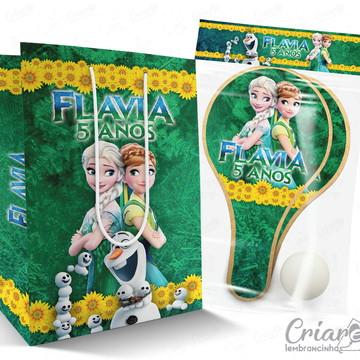 Sacolinha + Kit Ping Pong PERSONALIZADO - Frozen Fever