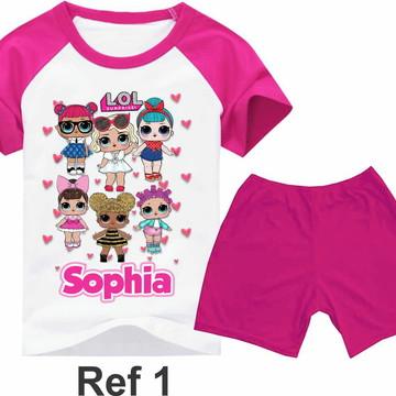 7017fb1fb5d Conjunto pijama infantil Lol