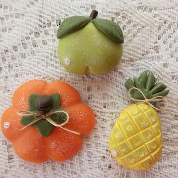 Ima de geladeira frutas e legumes (kit com 3)