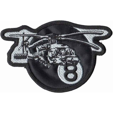 Patch Bordado - Helicoptero De Assalto Blackhawk Fab AV20184