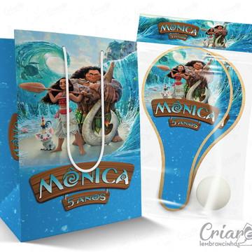 Sacolinha + Kit Ping Pong PERSONALIZADO - Moana