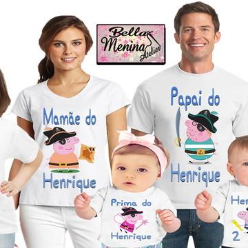 Kit 10 Camisetas Qualquer tema