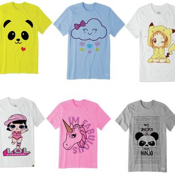 2d8cdf5c7 Kit adulto e infantil c/ 10 camisetas p/ revender atacado