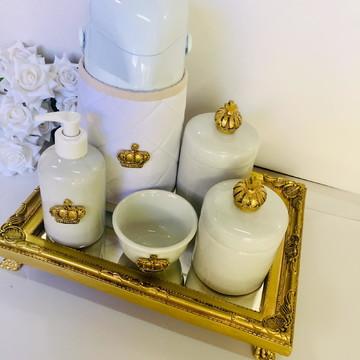 Kit Higiene Bebê Coroa Dourada