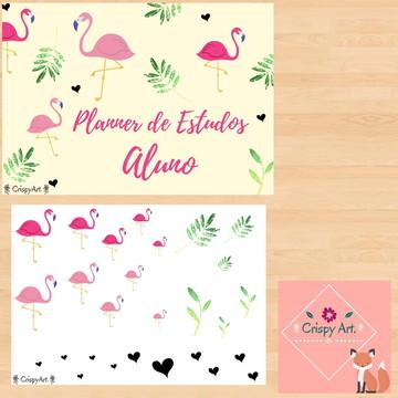 Planner de Estudos do Aluno - Flamingo