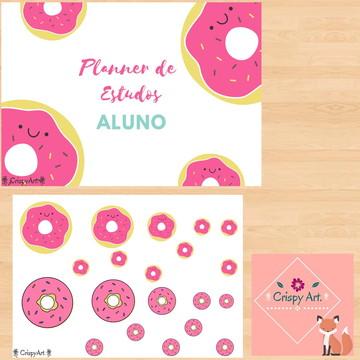 Planner de Estudos do Aluno - Donuts