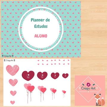 Planner de Estudos do Aluno - Coração
