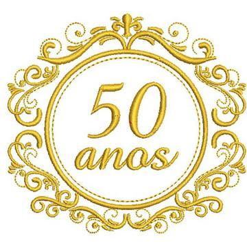 Matriz de bordado - Bodas 50 anos 003