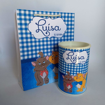 Kit Festa infantil Gatos Personalizado