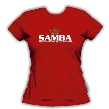 Baby Look Feminina Samba King + Brinde