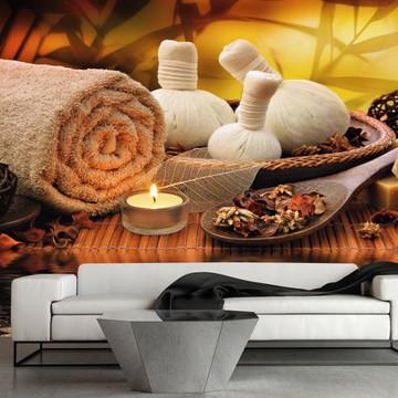 Papel de Parede Estética Spa Massagem Saúde Beleza GG156