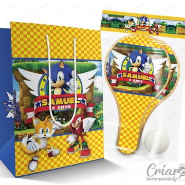 Sacolinha + Kit Ping Pong PERSONALIZADO - Sonic