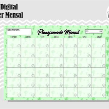PLANNER MENSAL 38 - ARTE DIGITAL
