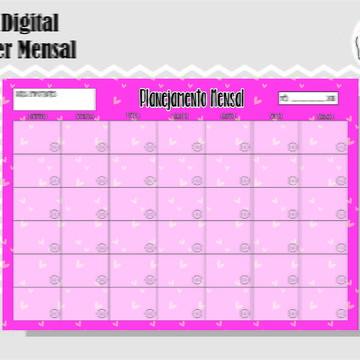 PLANNER MENSAL 39 - ARTE DIGITAL