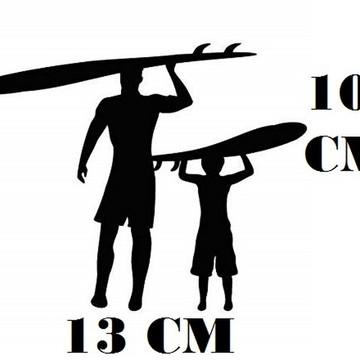 Adesivo Surfista Perfil Pai E Filho Surf Com Frete Grátis
