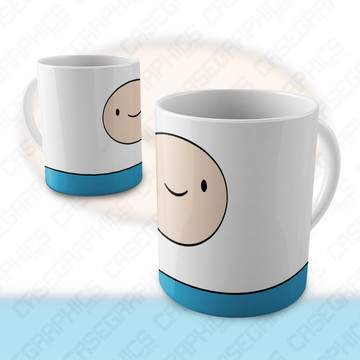 Caneca Hora de Aventura Finn Jake Cartoon Porcelana