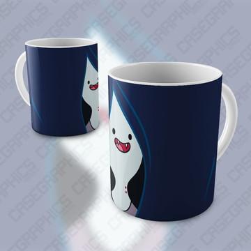 Caneca Hora de Aventura Marceline Finn Cartoon Porcelana