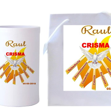 Presente Crisma, Kit crisma, #CRISMA, Caneca + Sacola
