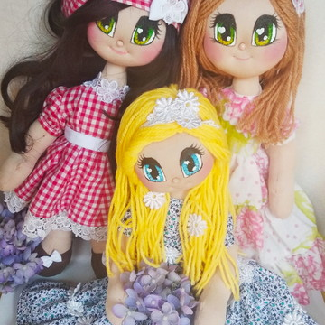Boneca de pano com Olhos Mangá