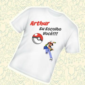 Camiseta Infantil Personalizada Eu Escolho Você C423BR