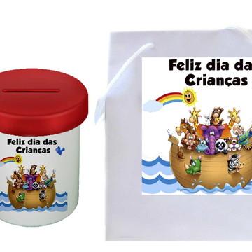 Lembrança para o dia das crianças - Cofre - Sacola