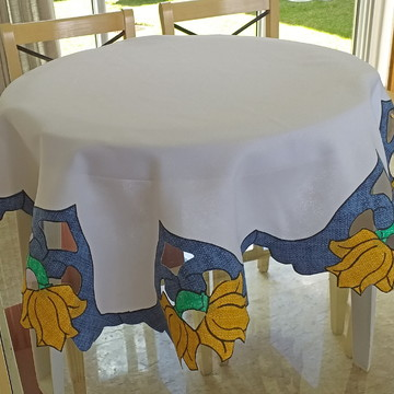 caminho de mesa flores magnólia