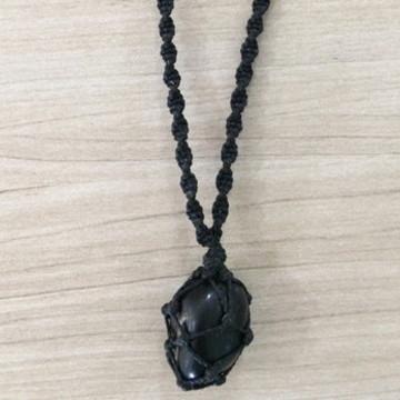 Cordão com Pedra Ônix - preto